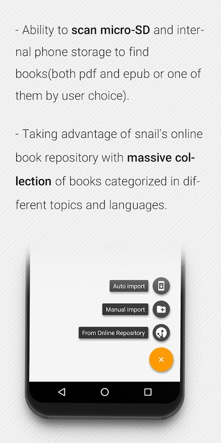 Snail Reader: Free PDF and Epub Reader- screenshot