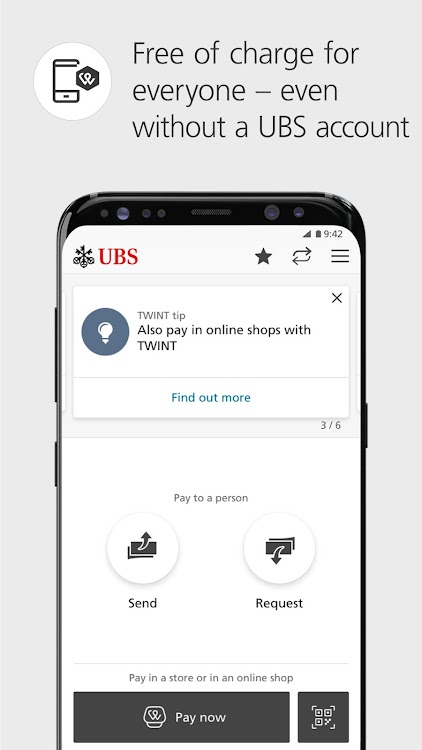 UBS TWINT: Twint even without a UBS account  – (Android Apps