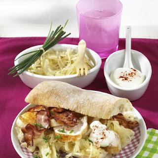 Chicken and Sauerkraut Sandwich.