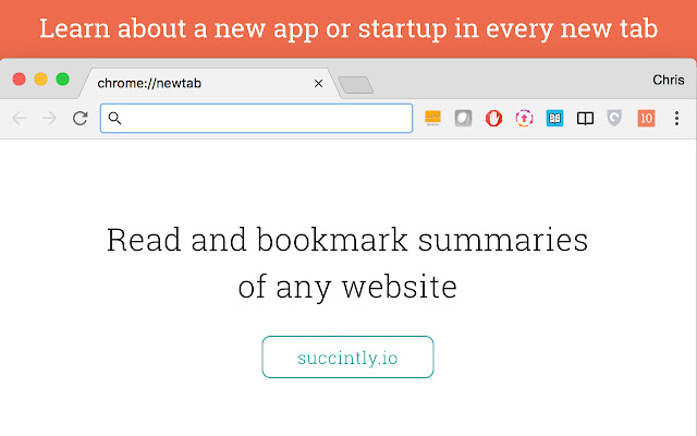 10words: discover startups in every new tab