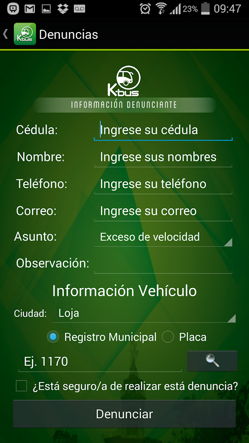 K BUS Buses Urbanos kbus- screenshot