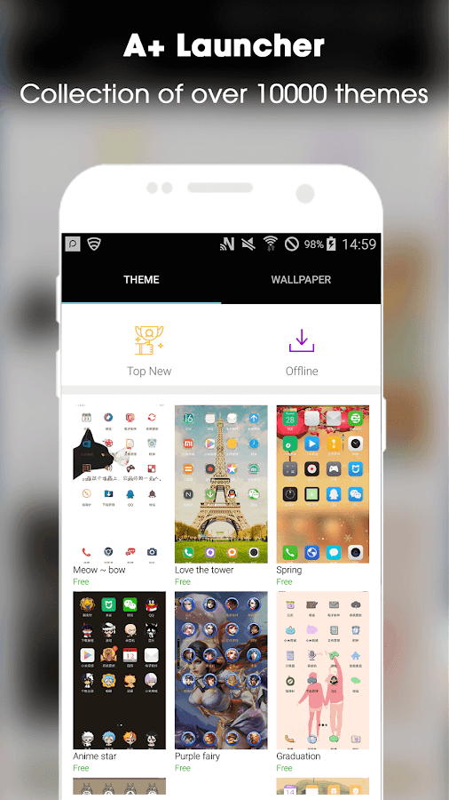 MIUI Resources Team] A+ Launcher - Themes, Wallpapers & Icon