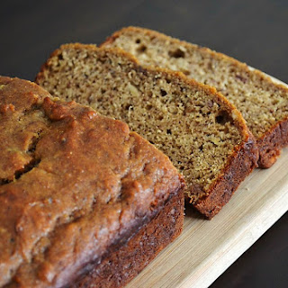 Healthy! Peanut Butter Banana Bread.