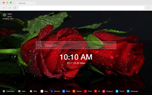 Red Flowers New Tabs HD Pop Flowers Theme