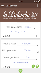 Ordina Pizza - La Palomba- miniatura screenshot