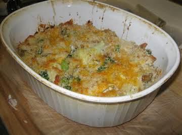 Rotisserie Chicken/Cauliflour/Brocolli Bake