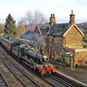 Highley by Stephen Davis - Transportation Trains ( countryside, vintage, train, histoy, landscape,  )
