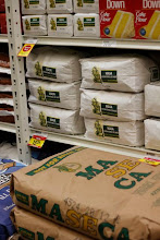 Photo: ....or even with Maseca flour. You usually will find the biggest size at the bottom of the display.