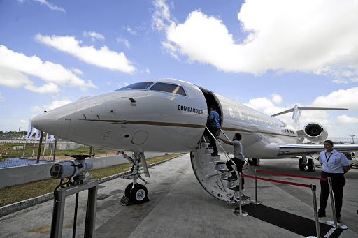 The Bombardier Inc Global 6000 business jet, on display during a media event at Seletar Aerospace Heights in Singapore before the pandemic. Picture: GETTY IMAGES/NICKY LOH