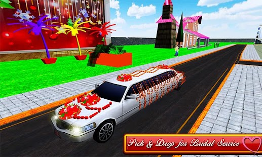 Bridal Limo Car & Wedding Bus 3d - náhled