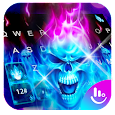 Hell Skull Fire Ice Keyboard Theme icon