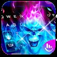 Hell Skull Fire Ice Keyboard Theme apk