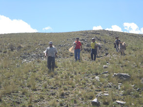 Photo: I carried a couple of bags of dirt up, but the air is so thin, s eventually we just sat at the bottom and shoveled the