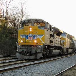 Union Pacific 8779 by Rick Covert - Transportation Trains ( railroad, locomotive, arkansas, railroad tracks, arkansas photographer, trains )