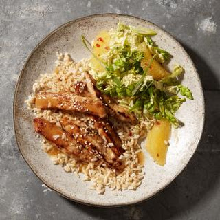 Orange-Sesame Pork with Napa Slaw