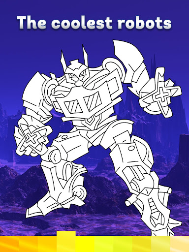 Robots Coloring Pages with Animated Effects - screenshot