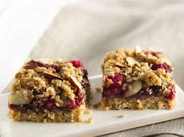 Chewy Chewy Raspberry Almond Bars Recipe