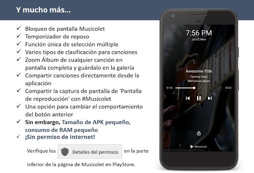 Musicolet Reproductor de Música [sin anuncios] screenshot 9