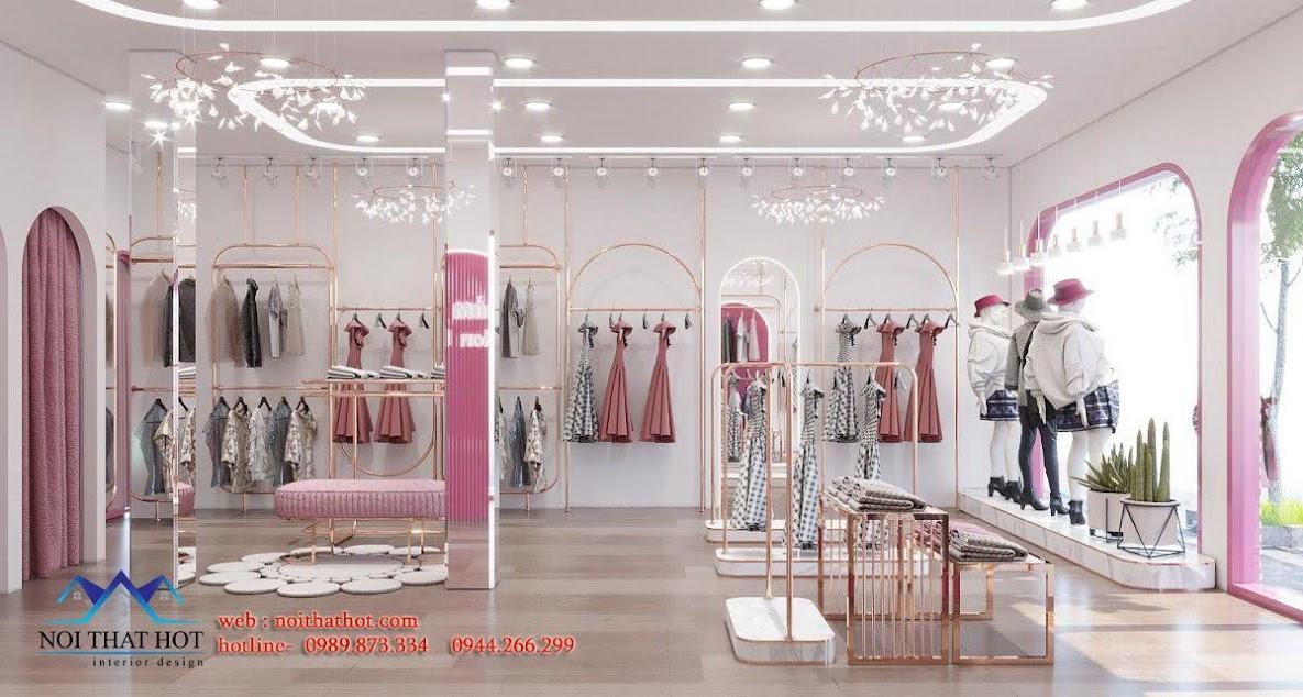trang trí cửa hàng quần áo đẹp