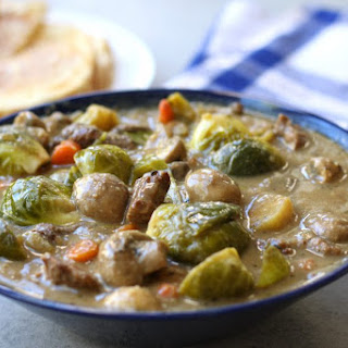 Beef and Brussels Sprouts Stew.