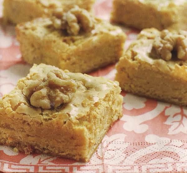 Orange Walnut Blondie Recipe