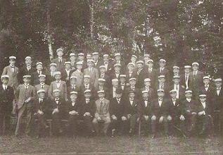 Photo: Lassalle til sangerstævne i Haslev 21. juli 1918