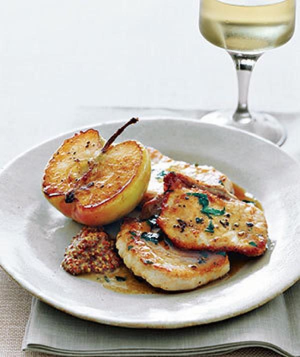 Pork With Sautéed Granny Smith Apples Recipe