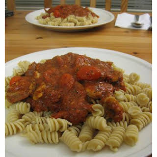 Pasta Sauce With Sausage and Sun-Dried Tomatoes.