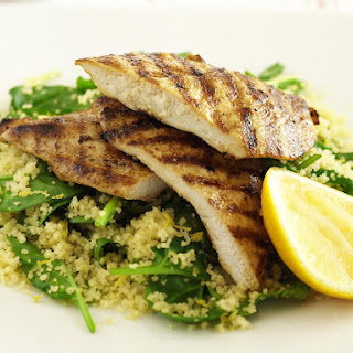 Spicy Chicken with Spinach Couscous.