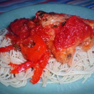 Puerto Rican Spaghetti with Chicken.