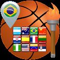 Brazil 2016 Basketball Olympic icon