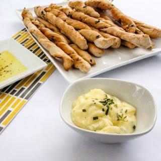 Garlic and Kale Breadsticks