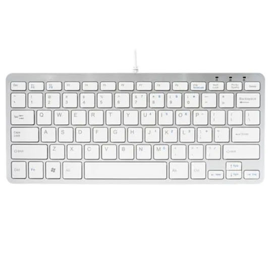R-Go Compact Ergonomic Keyboard, QWERTY (Nordic), wired White /RGOECNDW