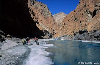 Photo: le plus souvent seuls les bords sont gelés