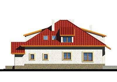 Wiera wersja A z pojedynczym garażem - Elewacja prawa