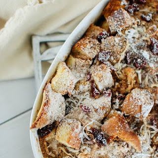 Overnight Coconut Cranberry French Toast Bake