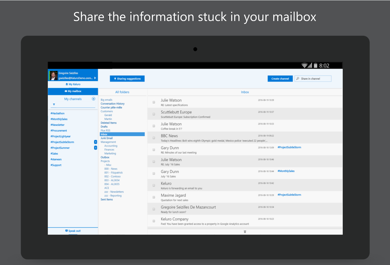 Keluro - Smart Email Sharing- screenshot