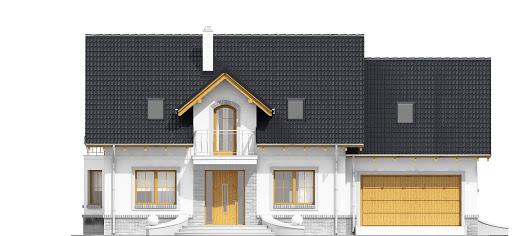 Dom Dla Ciebie 1 z garażem 2-st. A1 - Elewacja przednia