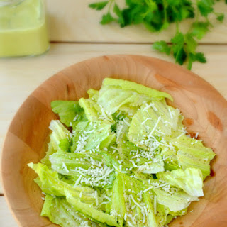 Romaine with Lemon Anchovy Dressing.