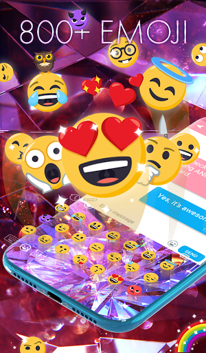 Diamond Wallpaper for Girls and Keyboard  screenshots 3