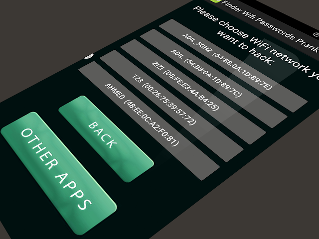 android Finder Wifi Passwords Prank Screenshot 2