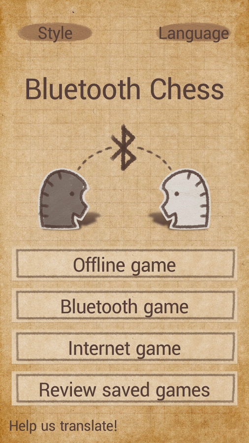 Bluetooth chess- screenshot