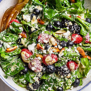 Mixed Berries Spinach Salad.