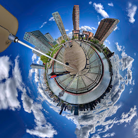 Tiny Planet Long Island City by Chad Weisser - City,  Street & Park  Skylines ( lic, weisser photography, manhattan, tiny planet, pwcskylines,  )