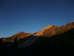 Photo: South and Middle Truchas Peaks at dawn