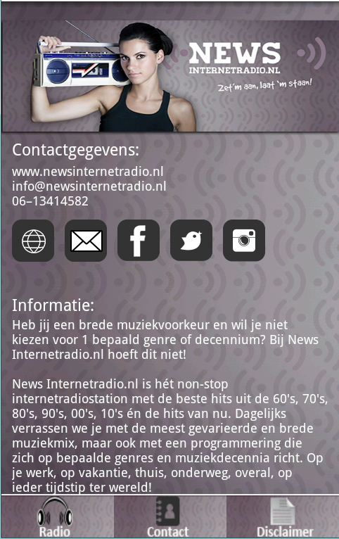 News Internetradio.nl- screenshot
