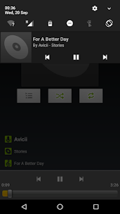 AOSP Music+ Screenshot