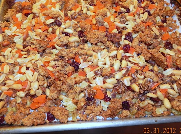 Dry in oven about 1 hour, stir occasionally. Store covered. Yields: 8 cups  (Or whatever...