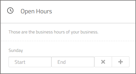 add you open hours