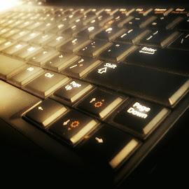 by Chilene Verheem - Abstract Macro ( technology; keyboard; tech; computer; laptop )